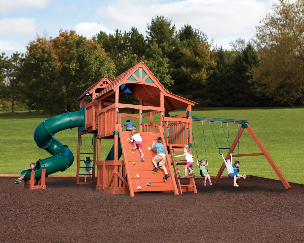 Backyard Adventures Kids Outdoor Playsets Yutka Fence Kids Outdoor Playsets
