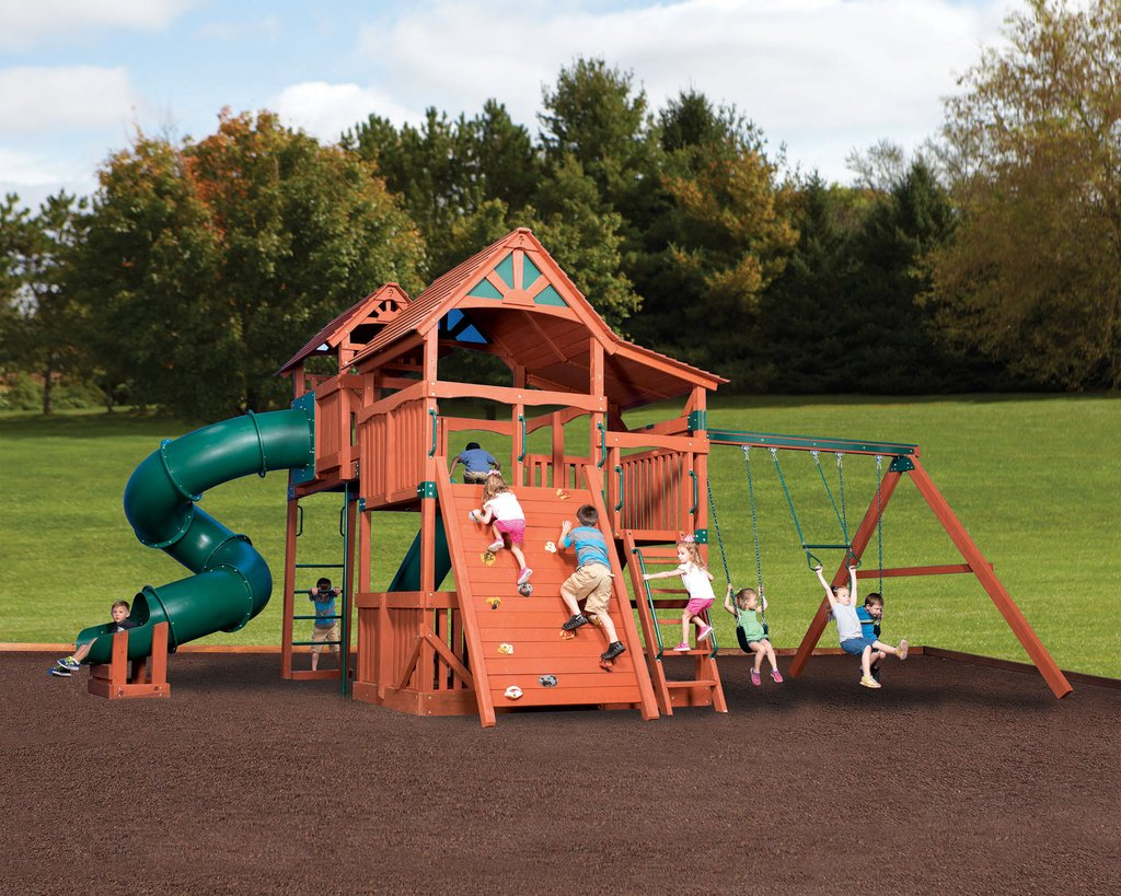 backyard adventures kids outdoor playsets yutka fence